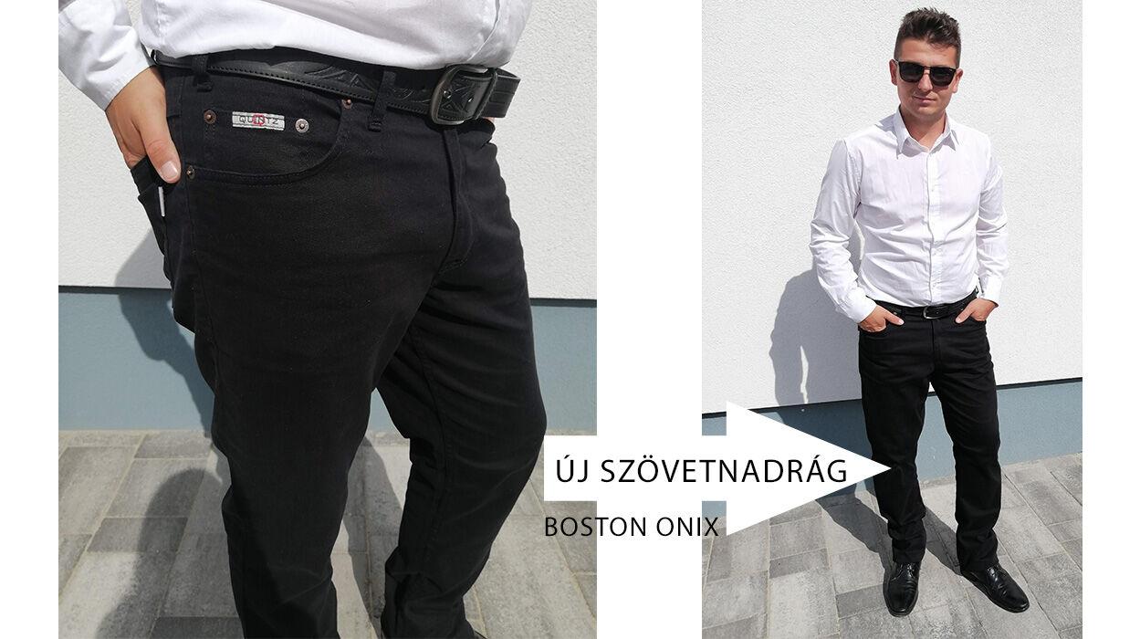 új fekete férfi nadrág